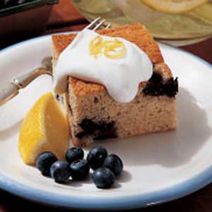 Blueberry Pudding with Lemon Cream Sauce Recipe