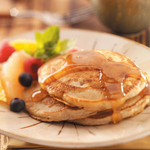 Egg free spiced pancakes recipe taste of home egg free spiced pancakes recipe ccuart Image collections