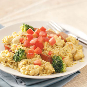 Chicken & Kielbasa with Curried Rice Recipe