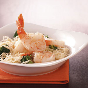 Shrimp & Broccoli with Pasta Recipe