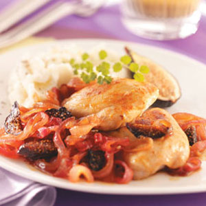 Chicken with Onions and Figs Recipe