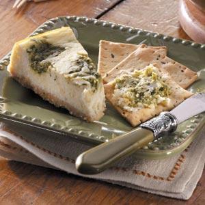 Pesto Swirled Cheesecake Recipe