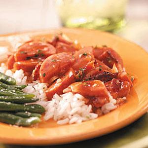 Smoked Kielbasa with Rice Recipe