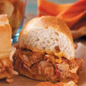 Barbecued Chicken Hoagies Recipe