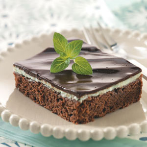 Makeover Mint Layer Brownies Recipe