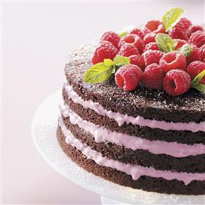 Light Chocolate Torte with Raspberry Filling Recipe