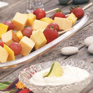 Fruit Kabobs with Margarita Dip Recipe