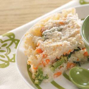 Rice Vegetable Pie Recipe