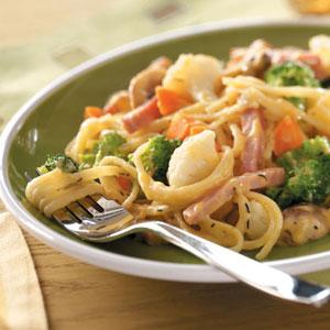 Ham and Broccoli Linguine