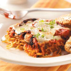 Portobello Spaghetti Casserole Recipe