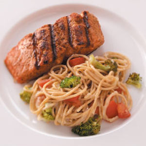 Salmon with Broccoli and Pasta Recipe