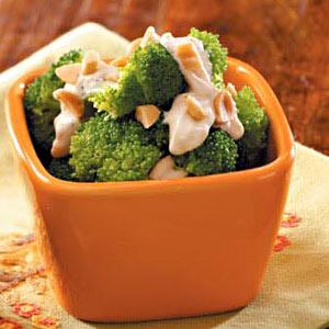Tangy Broccoli with Peanuts Recipe