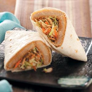 Asian Meatless Wraps Recipe