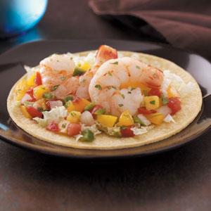 Peachy Shrimp Tacos Recipe