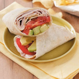 Ranch Turkey Wraps for 2 Recipe