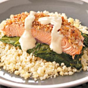 Company-Ready Crusted Salmon