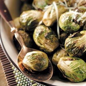 Lemon-Garlic Brussels Sprouts Recipe