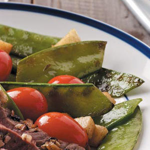 Snow Peas with Tomatoes Recipe