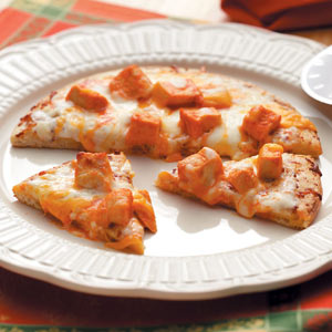 Individual Buffalo-Style Chicken Pizza Recipe
