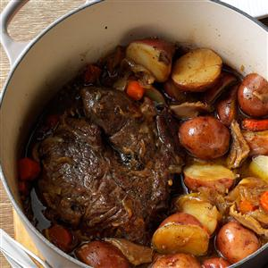 Stout & Shiitake Pot Roast Recipe