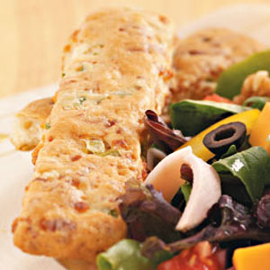 Cheese and Onion Breadsticks Recipe