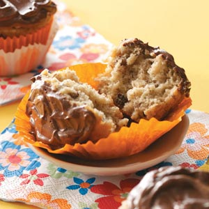 Banana Cupcakes with Ganache Frosting Recipe