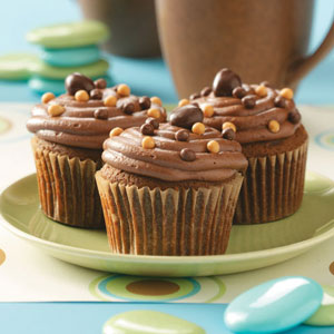 Spice Cupcakes with Mocha Frosting
