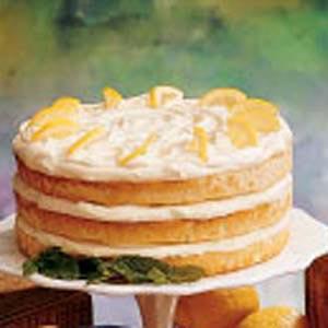 Lemon Whipped Cream Torte Recipe