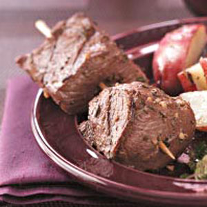 Succulent Beef Skewers for 2 Recipe