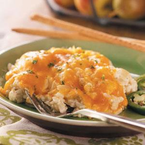Chili-Cheese Rice Bake Recipe
