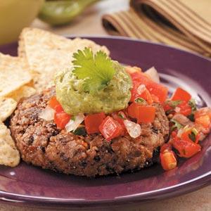 Homemade Cilantro Bean Burgers Recipe