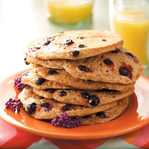 Blueberry Oat Pancakes Recipe