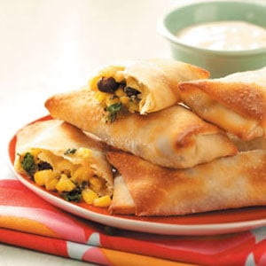 Spinach & Black Bean Egg Rolls Recipe
