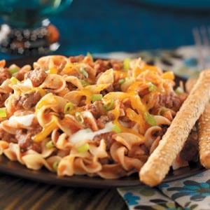 Lighter Hamburger Noodle Casserole Recipe