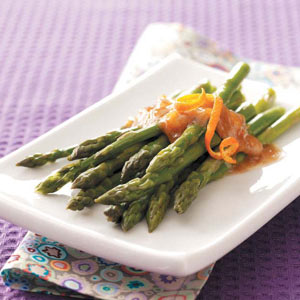 Asparagus with Orange-Ginger Butter Recipe