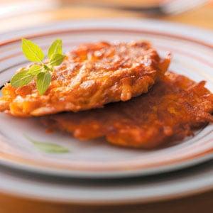 Curried Sweet Potato Latkes Recipe