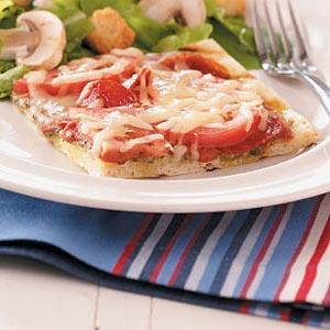Pepperoni Provolone Pizzas Recipe
