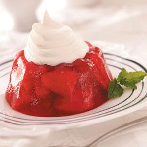 Rhubarb-Strawberry Gelatin Molds Recipe