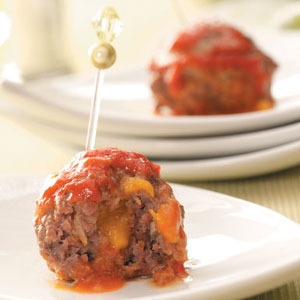 Cheddar Stuffed Meatballs Recipe