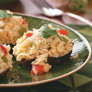 Risotto-Stuffed Portobello Mushrooms Recipe