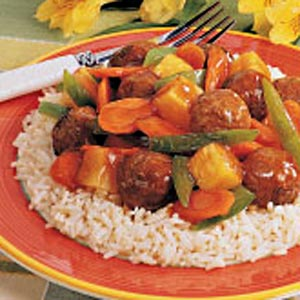 Sweet 'n' Sour Meatballs for 2 Recipe