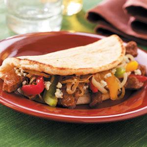 Hearty Sirloin Pitas Recipe