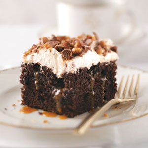 Chocolate Cake Skor Bar Recipe