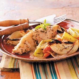 Roasted Turkey Breast Tenderloins & Vegetables Recipe