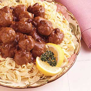 German Meatballs with Gingersnap Gravy Recipe