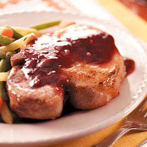 Pork Chops with Blackberry Sauce Recipe