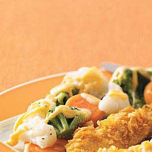 Vegetables with Cheese Sauce Recipe