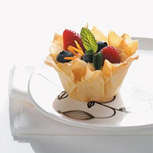 Berry & Yogurt Phyllo Nests Recipe