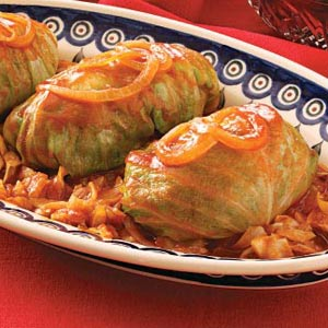 Sweet & Sour Stuffed Cabbage Recipe