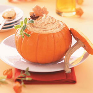 Pumpkin Mousse in a Pumpkin Recipe